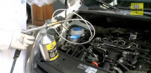 DPF filter cleaning